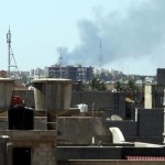 Smoke rises from near Tripoli airport