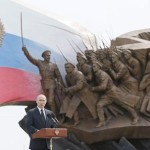 Vladimir Putin takes part in the unveiling ceremony of a monument to the Heroes of World War I