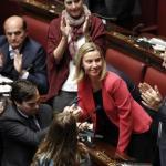 """Camera: standing ovation per Mogherini, """"per me non è addio"""""""