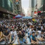 Hong Kong pro-Democracy activists occupy the streets of the city
