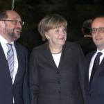 Informal Dinner Hollande, Merkel, Schulz