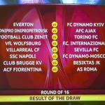 Draw of the round of 16 of the UEFA Europa League