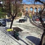 Maltempo: a Roma alcuni quartieri imbiancati dalla grandine