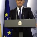 EUROPEAN COUNCIL PRESIDENT DONALD TUSK VISITS