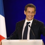 Nicolas Sarkozy at Union For a Popular Movement (UMP) campaign meeting