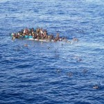 Refugees rescue in Mediterranean sea