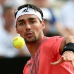 Fabio Fognini of Italy during the match vs Tomas Berdych of Czech Republic, for the Italian Open tennis tournament at the Foro Italico in Rome, Italy, 14 May 2015. ANSA/ALESSANDRO DI MEO