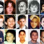 Le foto, prese da missingkids.com oggi 31 agosto 2010, di alcune delle persone scomparse in Italia quando erano minori: Sergio Isidoro, scomparso il 23 aprile 1979; Mirella Gregori, 7 maggio 1983; Emanuela Orlandi, 22 giugno 1983; Santina Renda, 23 marzo 1990; Pasquale Porfidia, 7 maggio 1990; Benedetta Adriana Roccia, 10 giugno 1990; Salvatore Colletta, 31 marzo 1992; Mariano Farina, 31 marzo 1992; Simona Floridia, 16 settembre 1992; Domenico Nicitra, 21 giugno 1993; Bruno Romano, 26 dicembre 1995; Angela Celentano, 10 agosto 1996; Giuseppe Sammiceli, 26 febbraio 2000; Luigi Sebillo 23 febbraio 2003, Denise Pipitone, primo settembre 2004. ANSA/MISSINGKIDS.COM +++NO SALES - EDITORIAL USE ONLY+++