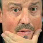epa04705963 Napoli's head coach Rafael Benitez attends a press conference in Wolfsburg, Germany, 15 April 2015. SSC Napoli will face VfL Wolfsburg in the UEFA Europa League quarter final first leg soccer match on 16 April 2015.  EPA/PETERSTEFFEN