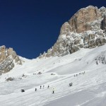 Una foto della zona, sotto il Monte Averau, vicino Passo Giau, in cui è morto sciatore olandese 24 anni. ANSA/ SOCCORSO ALPINO VENETO  ++HO - NO SALES EDITORIAL USE ONLY - NO ARCHIVE++