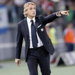 FC Inter's head coach Roberto Mancini reacts during the Serie A soccer match between SS Lazio and FC Inter at the Olimpico stadium in Rome, Italy, 10 May 2015.   ANSA/RICCARDO ANTIMIANI