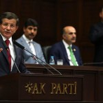 epa04864758 Turkey's Prime Minister Ahmet Davutoglu as he addresses members of parliament from his ruling AK Party (AKP), during a meeting at the Turkish parliament in Ankara, Turkey, 29 July 2015. Turkey's parliament is meeting lateron 29 July 2015 at the behest of the opposition to discuss Ankara's strikes against the Islamic State and the Kurdistan Workers' Party (PKK).  EPA/STR