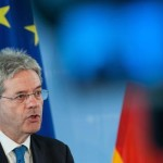 epa04804888 Italian Foreign Minister Paolo Gentiloni speaks during a press conference after a meeting with his German counterpart Steinmeier (not pictured) in Berlin, Germany, 17 June 2015.  EPA/PAUL ZINKEN