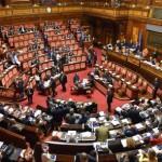 L'aula del Senato durante l'esame del ddl Rai, Roma, 30 luglio 2015. ANSA/ETTORE FERRARI