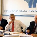 Sergio Chiamparino (secondo da sinistra), governatore del Piemonte, durante la Conferenza delle Regioni e delle Province Autonome, Roma, 30 luglio 20105. ANSA/FABIO CAMPANA