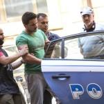 G.F., il presunto stupratore di Prati,  viene trasferito in carcere dalla questura di Roma, 1 luglio 2015. ANSA/MASSIMO PERCOSSI