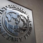 A file photo dated 18 May 2011 showing the sign of the International Monetary Fund at the entrance of the Headquarters of the IMF, also known as building HQ2, in Washington, DC, USA.        ANSA/JIM LO SCALZO