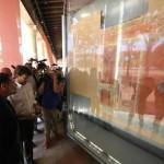 Il ministro ai beni culturali Dario Franceschini oggi a Pompei per la riaprtura della Palestra Grande, nuovamente visitabile dopo i lavori di restauro. Oggi 3 Agosto 2015. ANSA/CESARE ABBATE/