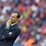 FC Juventus's head coach Massimiliano Allegri reacts during the UEFA Champions League final soccer match between FC Juventus and FC Barcelona at the Olympiastadion in Berlin, Germany, 06 June 2015.  ANSA/ETTORE FERRARI