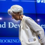 epa04837754 International Monetary Fund Managing Director Christine Lagarde prepares to speak at a Brookings Institute discussion called 'Financing the post-2015 sustainable development agenda: What are the issues and what is the role of the IMF?' in Washington, DC, USA, 08 July 2015. Lagarde addressed the Eurozone decision to give Greece until July 12 to come up with a finance proposal to address the county's increasing debt.  EPA/JIM LO SCALZO
