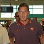 Francesco Totti leaving from Rome to Lisbon. AS Roma will meet Sporting Lisbon for a friendly match. Rome, August 1st 2015. ANSA/TELENEWS