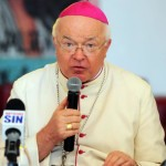 A handout photograph made available on 26 September 2013 by Diario El Caribe shows Archbishop Josef Wesolowski as he participates in a mass in Saint Domain (Dominican Republic), on 17 April 2013. The attorney general of Poland announced on 25 September 2013, that his office will open a case against Wesolowski, accused of pedophilia in Dominican Republic, if evidence confirms a serious crime.  ANSA/Danny Polanco / HANDOUT EDITORIAL USE ONLY / NO SALES