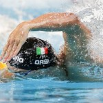 epa04872456 Marco Orsi of Italy competes in the men's 100m Freestyle Heats during the FINA Swimming World Championships at Kazan arena in Kazan, Russia, 05 August 2015.  EPA/PATRICK B. KRAEMER