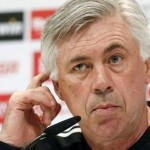 epa04751070 Head coach of Real Madrid, Italian Carlo Ancelotti, holds a press conference following a training session held at the Valdebebas sports complex in Madrid, Spain, 16 May 2015. Real Madrid will face Espanyol in a Spanish Primera Division League soccer match on 17 May.  EPA/Fernando Alvarado