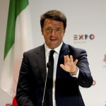 Italian Prime Minister Matteo Renzi  speaks during the press conference at the Universal Exhibition 2015 (Expo Milano 2015 or World Exposition 2015) in Milan on 21 June, 2015. ANSA/MOURAD BALTI TOUATI