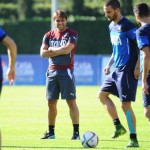 Italian national team coach Antonio Conte during the Training  at federal  center of Coverciano, Italy, 8 October 2015 ANSA/MAURIZIO DEGL INNOCENTI