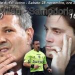 Milan-Sampdoria sabato sera alla 14ma in A