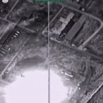 epa05038531 A handout frame grab from video footage released by the Russian Defence Ministry 23 November 2015 shows an aerial view of strikes carried out by Russian warplanes against local oil refining plant in the Deir ez-Zor region in Syria. Russian aircraft significantly increased the intensity of strikes against what Russia says were terrorists targets in Syria.  EPA/RUSSIAN DEFENCE MINISTRY PRESS SERVICE / HANDOUT  HANDOUT EDITORIAL USE ONLY/NO SALES