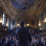 Il premier Matteo Renzi in occasione dell'incontro con Francois Hollande all'Eliseo, Parigi, 26 novembre 2015. ANSA/ TIBERIO BARCHIELLI - UFFICIO STAMPA BARCHIELLI ++HO - NO SALES EDITORIAL USE ONLY++