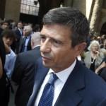 Maurizio Lupi durante i funerali del costruttore romano Claudio Salini morto in un incidente stradale, Roma, 02 Settembre 2015. ANSA / LUIGI MISTRULLI