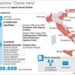 """L'Infografica di Centimetri illustra i dettagli dell'operazione """"Dama Nera"""", Roma, 22 Ottobre 2015. ANSA/ CENTIMETRI"""