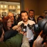 Il segretario della Lega Nord, Matteo Salvini, al congresso nazionale di Confabitare all'Hotel Savoia di Bologna, 20 novembre 2015. ANSA/GIORGIO BENVENUTI