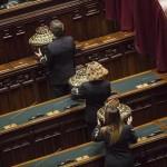Un momento nell'aula della Camera durante il Parlamento in seduta comune per l'elezione di tre Giudici della Corte costituzionale, Roma, 1 Dicembre 2015. ANSA/GIUSEPPE LAMI