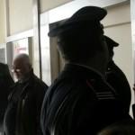 Francesco Sicignano il pensionato che ha ucciso il ladro di origine albanese prima di venire interrogato dal pm della procura di Milano, 21 Ottobre 2015. ANSA/ ANDREA GIANNI