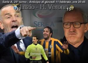 Lazio-H. Verona, in A giovedì 11/2 (elaborazione)