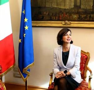 Laura Boldrini a Montecitorio in un'immagine del 19 novembre 2015. ANSA/ FABIO CAMPANA