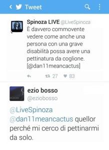 Twitt Spinoza e Bosso