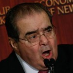 epa05150303 US Supreme Court Associate Justice Antonin Scalia speaks at the Economics Club of New York in New York, New York, USA, 08 February 2016. Justice Scalia spoke on Globalization and US law.  EPA/PETER FOLEY