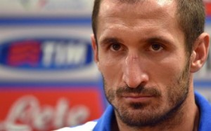 Italy's defender Giorgio Chiellini looks on during a press conference at the Olimpico stadium in Rome, Italy, 12 October 2015. Italy will face Norway in the UEFA EURO 2016 group H qualification match on13 October.   ANSA/ETTORE FERRARI