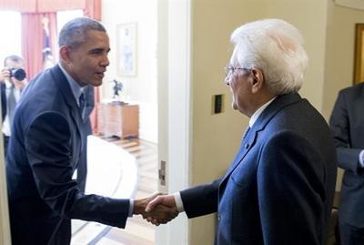 Mattarella da Obama: 'Italia e Stati Uniti insieme per la pace e la stabilità'