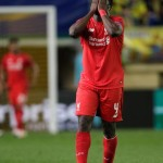 Liverpools Kolo Toure reacts during their Europa League semifinal first leg soccer match between Villarreal and Liverpool FC at the Madrigal stadium in Villarreal, Spain, Thursday April 28, 2016. (ANSA/AP Photo/Alberto Saiz)
