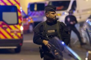 epa05221089 (FILE) A file photo dated 13 November 2015 of police officers standing guard outside the Stade de France in Paris, France, 13 November 2015, after explosions were reported. Media reports on 19 March 2016 state that terror suspect Salah Abdeslam who was arrested in an anti-terror operation in Belgium on 18 March, told investigators that he had planned to blow himself up at the Stade de France in Paris on 13 November 2015 but then decided not to do so. At least 130 people died and dozens were injured during the 13 November terrorist attacks on the Stade de France stadium, the Bataclan club and restaurants in downtown Paris.  EPA/IAN LANGSDON