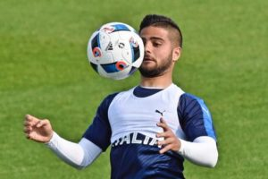 Italy's forward Lorenzo Insigne during the team soccer training section at Coverciano sportive center in Florence, Italy, 20 May 2016. ANSA/MAURIZIO DEGL'INNOCENTI