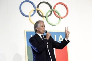 Italian Olympic Committee president Giovanni Malago' during presentation the ''Project Rio 2016'' in Fencing Home, Foro Italico, Rome, Feb. 01, 2016, ANSA/ GIUSEPPE LAMI