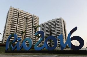 The Olympic Village stands ready in Rio de Janeiro, Brazil, Saturday, July 23, 2016. The brand new complex of residential towers are where nearly 11,000 athletes and some 6,000 coaches and other handlers will sleep, eat and train during the upcoming games, that will kickoff on Aug. 5(ANSA/AP Photo/Leo Correa) [CopyrightNotice: Copyright 2016 The Associated Press. All rights reserved. This material may not be published, broadcast, rewritten or redistribu]