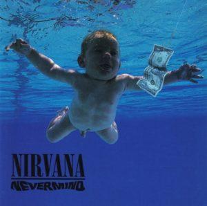 Un'immagine della copertina dell'album Nevermind  dei Nirvana (uscito il 24 settembre 1991) tratta dal sito web: http://heathen-hymns.blogspot.com/2011/03/nirvana-nevermind-1991.html.  ANSA / WEB +++ HANDOUT - NO SALES - EDITORIAL USE ONLY - FOTO DA USARE CON LA NOTIZIA DELL'USCITA DEL COFANETTO CELEBRATIVO +++